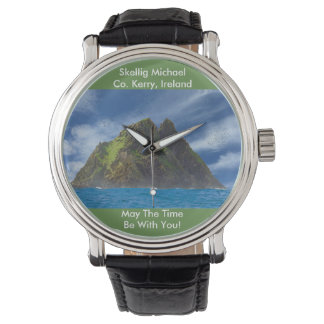 Irish image for Black Vintage Leather Watches