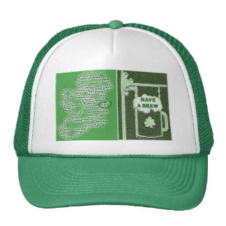 IRISH IRELAND AND PUB TRUCKER HAT