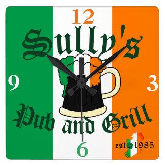 Irish Ireland Beer Pint Bar and Grill Name Clock
