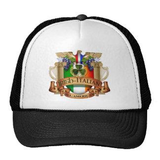 Irish Italian all American Trucker Hats