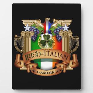 Irish Italian all American Plaques
