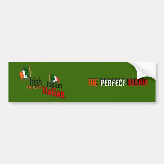 Irish Italian Bumper Sticker