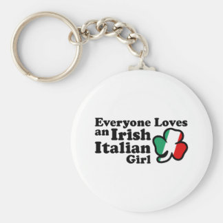 Irish Italian Girl Key Ring