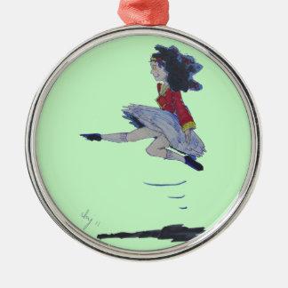 Irish Jig Folk Dancing Cartoon Girl Christmas tree Christmas Ornament