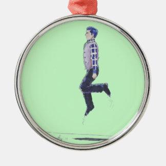 Irish Jig Folk Dancing Man Christmas tree ornament