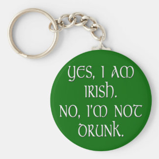 Irish joke funny anti-stereotype key ring