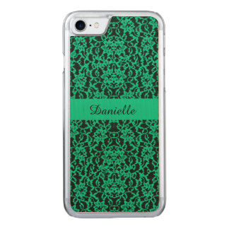 Irish Kelly Green Lace Carved iPhone 8/7 Case