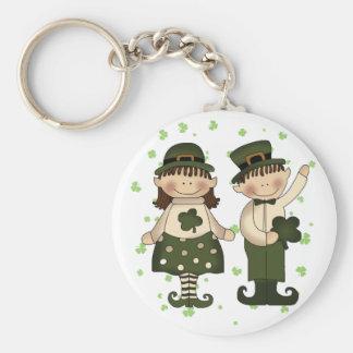 Irish Kids Basic Round Button Key Ring
