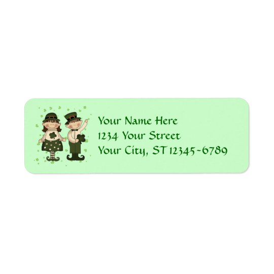 Irish Kids Label Return Address Label