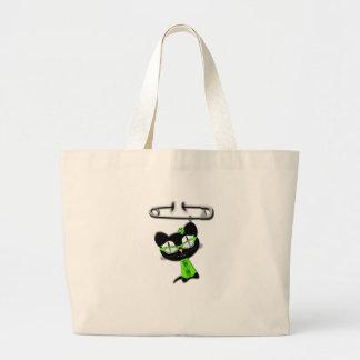 Irish Kitty Charm Canvas Bag