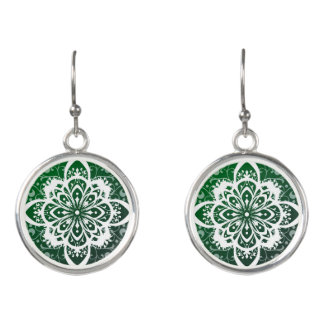 Irish lace earrings