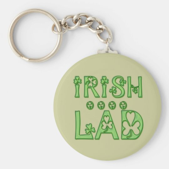 Irish Lad Basic Round Button Key Ring