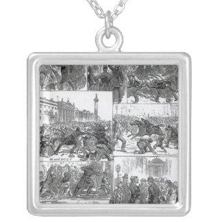 Irish Land League Agitation Silver Plated Necklace