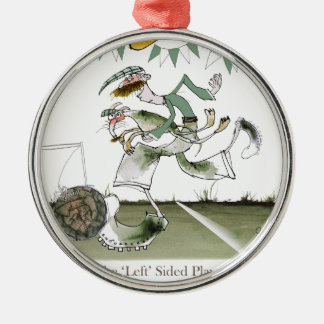 irish left wing footballer christmas ornament