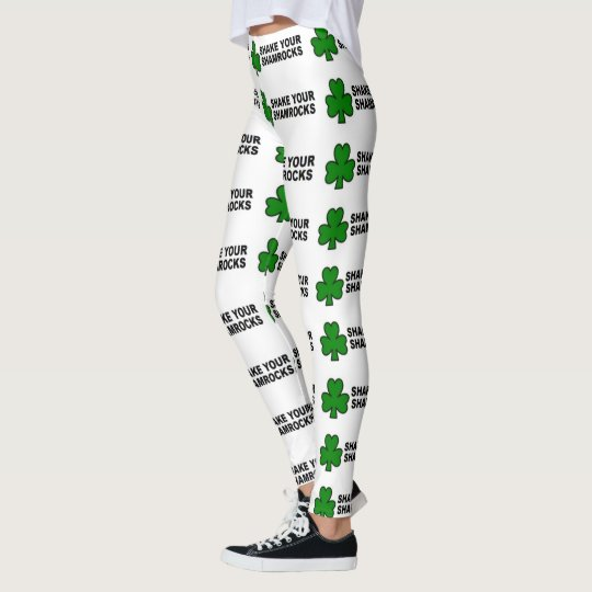irish leggings shake your shamrocks funny