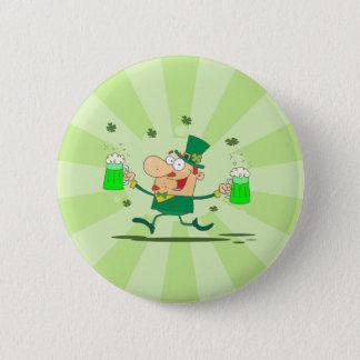Irish Leprechaun 6 Cm Round Badge