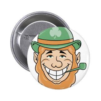Irish Leprechaun Button