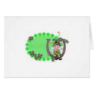Irish Leprechaun Card