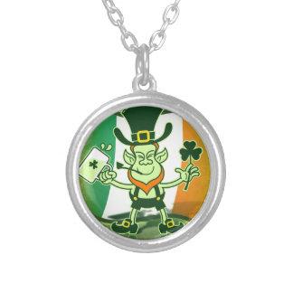 Irish Leprechaun Drinking a Toast Necklaces