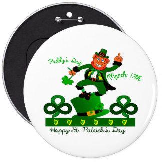Irish Leprechaun for Colossal, 6 Inch Round Button