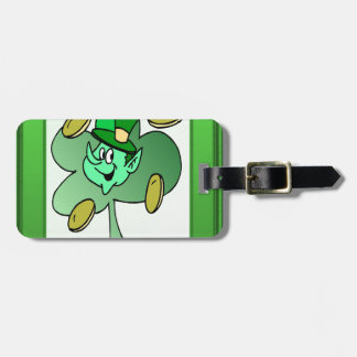 Irish Leprechaun for St Patrick s Day Bag Tag