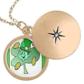 Irish Leprechaun for St Patrick's Day Necklace