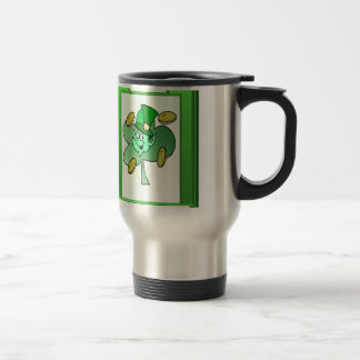 Irish Leprechaun for St Patrick's Day Travel Mug