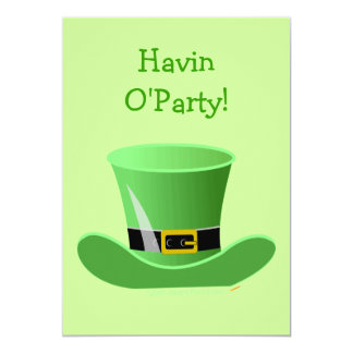 Irish Leprechaun Hat Funny St. Patrick's Day Party 13 Cm X 18 Cm Invitation Card