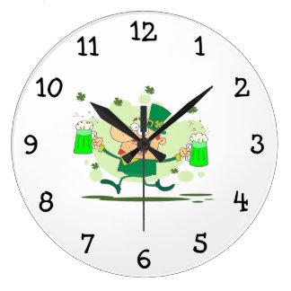 Irish Leprechaun Large Clock