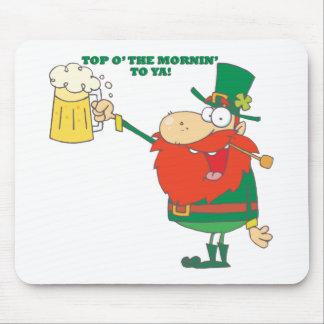 Irish Leprechaun Man with Beer Mouse Pad