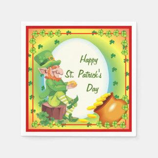 Irish Leprechaun Pot of Gold Napkins Paper Napkins