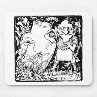 Irish Leprechaun Silhouette (Black) Mouse Pad
