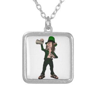 Irish Leprechaun with Tankard Personalized Necklace