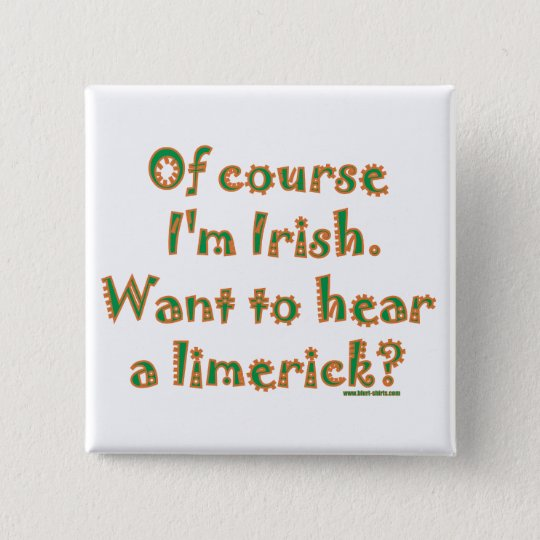 Irish Limerick 15 Cm Square Badge