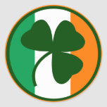 Irish logo, shamrock on flag colours