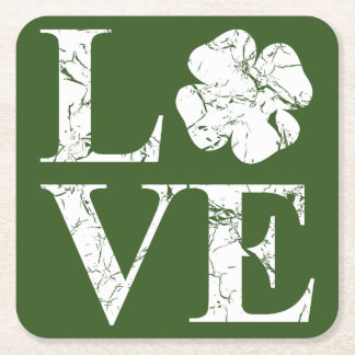 Irish Love II Square Paper Coaster