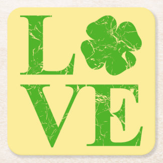 Irish Love Square Paper Coaster