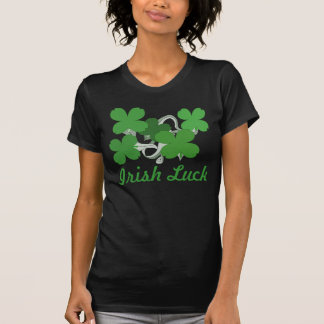 'Irish Luck', Clover Over Flow F1: by P.O.S.H.Inks T Shirts
