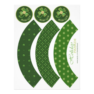 Irish Luck Cupcake Wrappers 21.5 Cm X 28 Cm Flyer
