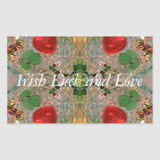 Irish Luck & Love Rectangular Sticker