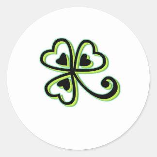 Irish Luck Round Stickers