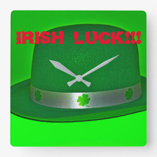 Irish Luck Wall Clock