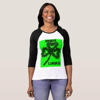 Irish Luck Women's T-Shirt 3/4 Sleeve Raglan