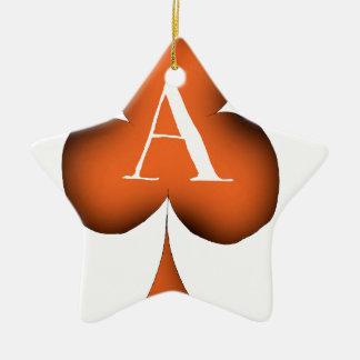 Irish 'Lucky' Ace of Clubs by Tony Fernandes Ceramic Star Decoration