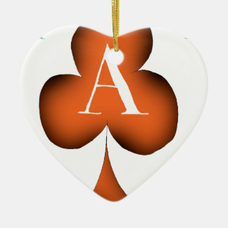 Irish 'Lucky' Ace of Clubs by Tony Fernandes Christmas Ornament