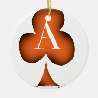 Irish 'Lucky' Ace of Clubs by Tony Fernandes Round Ceramic Decoration