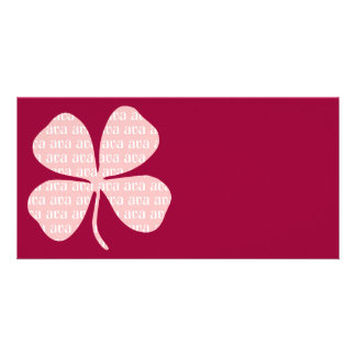 Irish Lucky Pink Shamrock Ava Picture Card