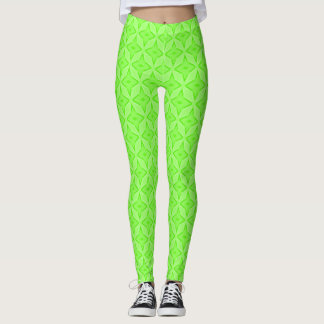 Irish Lucky Satin Pastel Stars Leggings
