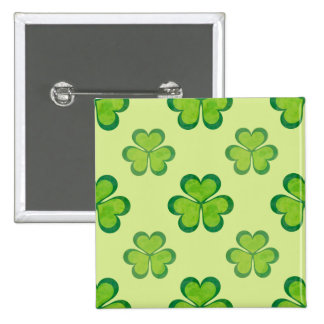 Irish Lucky Shamrocks Clovers Seamless Pattern 15 Cm Square Badge