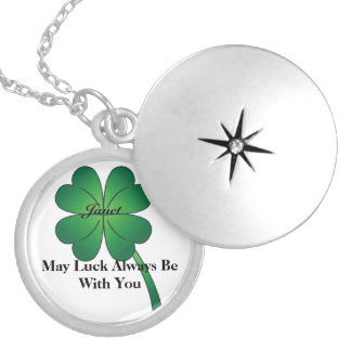 Irish Lucky  Silver LOCKET